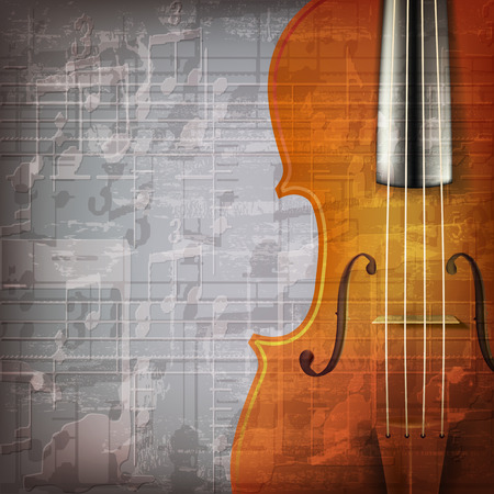 abstract grunge gray music background with violin