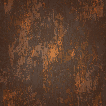 rusted: abstracta perfecta textura de metal de color marr�n oscuro oxidado Vectores