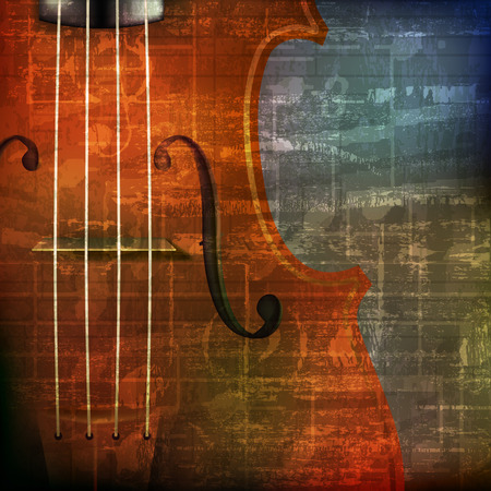 abstract green grunge vintage sound background with violin