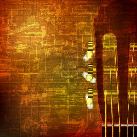 soprano saxophone: abstracto marrón grunge cosecha de fondo sonido de guitarra acústica Vectores