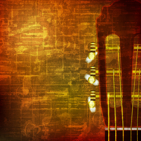 abstract brown grunge vintage sound background acoustic guitar