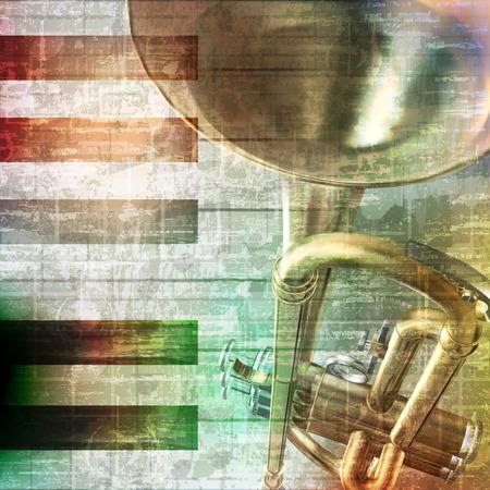 soprano saxophone: abstracto gris grunge música de fondo de la vendimia con las teclas del piano y trompeta
