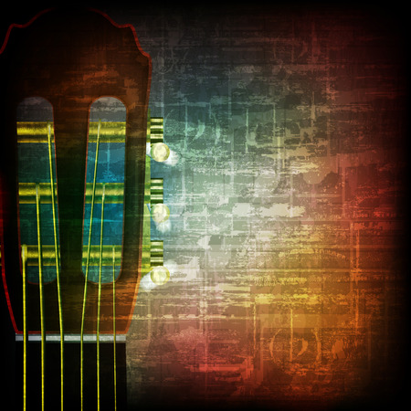 blare: abstract music grunge vintage background acoustic guitar