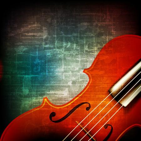 chiave di violino: musica grunge astratto vintage con violino