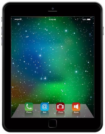 photo realistic: photo realistic Tablet Similar  style isolated on white background
