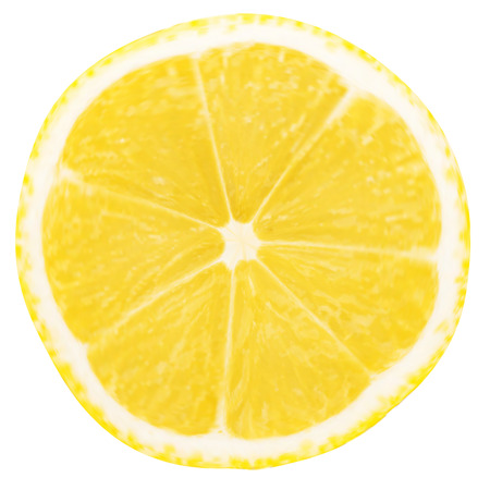 cuts: lemon slice isolated on a white background