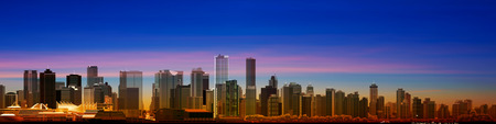 panorama city: abstract city background with panorama of vancouver