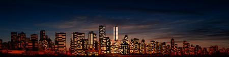 vancouver: abstract night city background with panorama of vancouver
