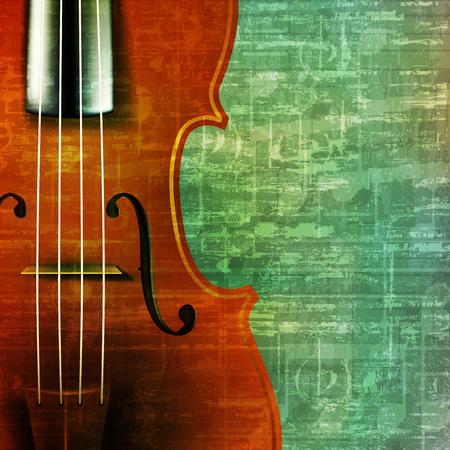 key violin: musica grunge astratto vintage con illustrazione vettoriale violino