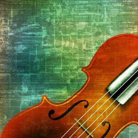 abstract music grunge vintage background violin vector illustration