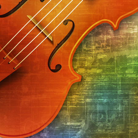 abstract green music grunge background violin vector illustration
