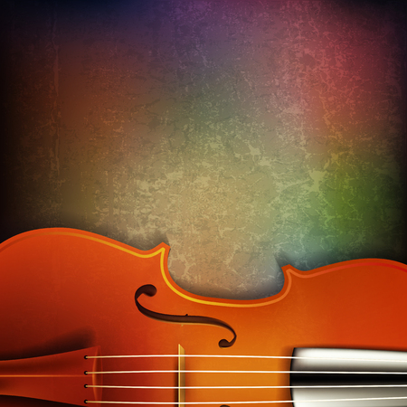 blare: abstract grunge background with violin Illustration