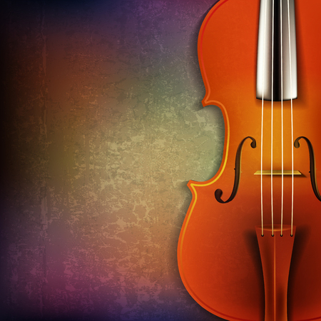 classical theater: abstract grunge background with violin Illustration
