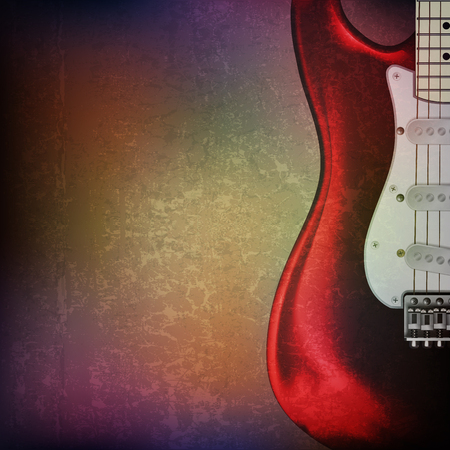 blare: abstract grunge background with electric guitar