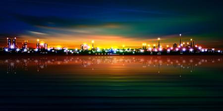 europa: abstract golden sunset background with silhouette of Tallinn vector illustration