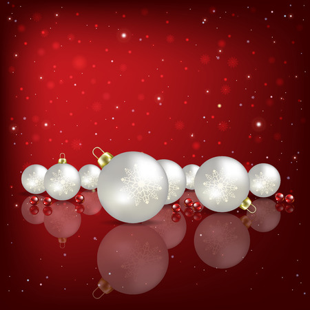 holiday gifts: Abstract red background with white Christmas decorations