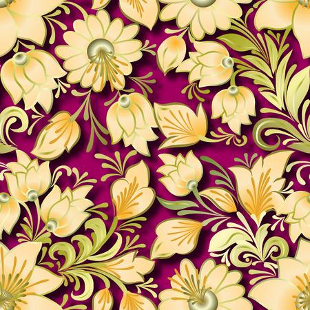 lighten: seamless lighten floral ornament on pink background