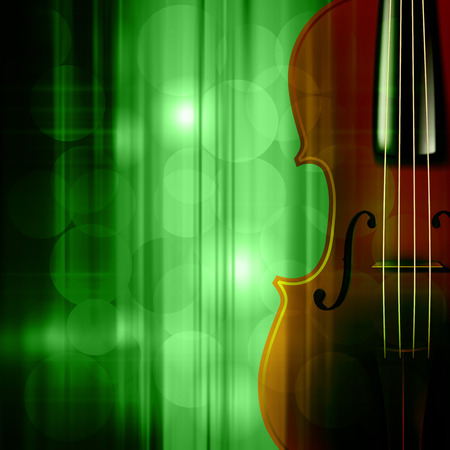 groupe: abstract green music background with violin