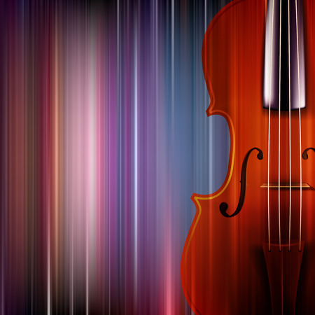 groupe: abstract blue music background with violin