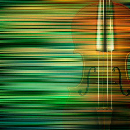 groupe: abstract green blur background with violin Illustration