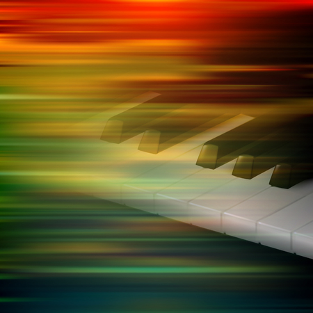 classic classical: abstract brown motion blur background with piano keys