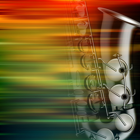 classic classical: abstract brown motion blur background with saxophone