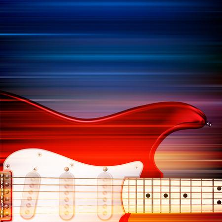 astratto sfocatura dello sfondo di musica con la chitarra elettrica