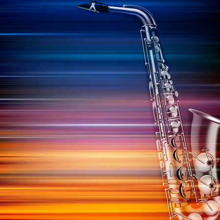 music background: abstract blur music background with saxophone
