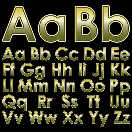 echo: Alphabet golden wire pseudo 3d letters on a black