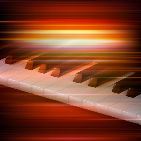 red blur: abstract red blur music background with piano keys