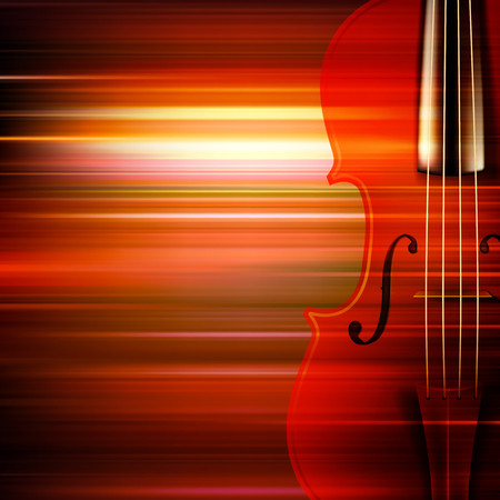 abstract music: abstract red blur music background with violin Illustration