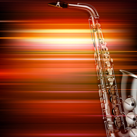 saxophonist: abstract red blur music background with saxophone