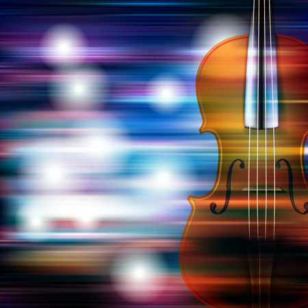 groupe: abstract blue white music background with violin Illustration