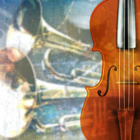 groupe: abstract blue grunge music background with violin
