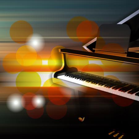 abstrait musique flou avec piano à queue