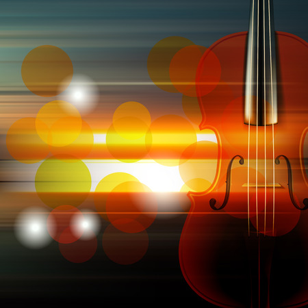 groupe: abstract music blur background with violin