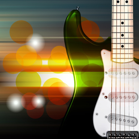 abstract music: abstract music blur background with electric guitar Illustration