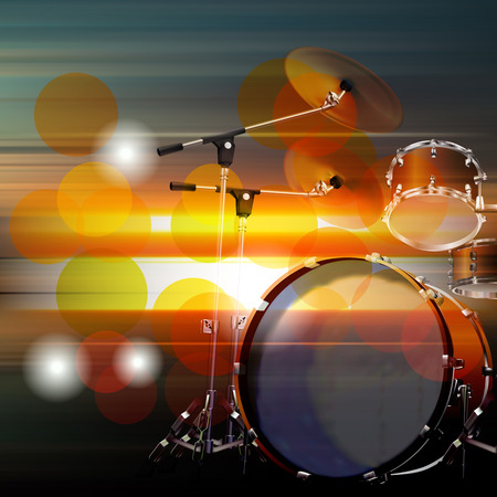 drum kit: abstract music blur background with drum kit