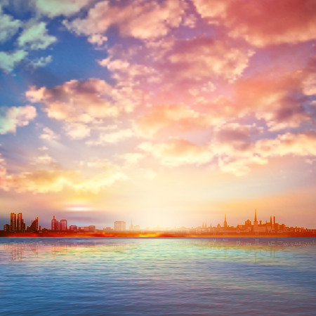 abstract background with spring sunrise in Tallinn