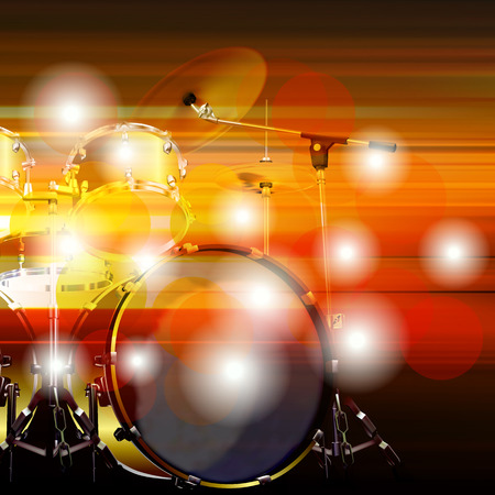 blur music background with drum kit
