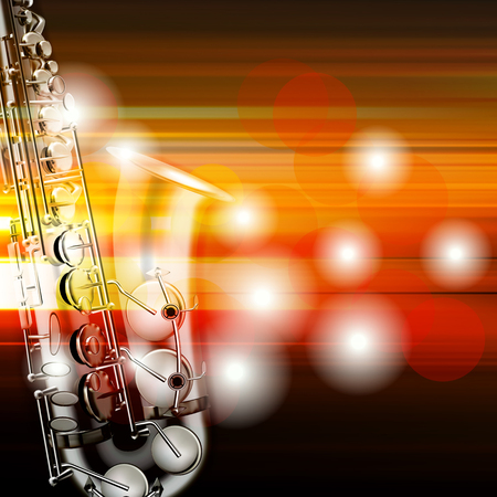 blur music background with saxophone