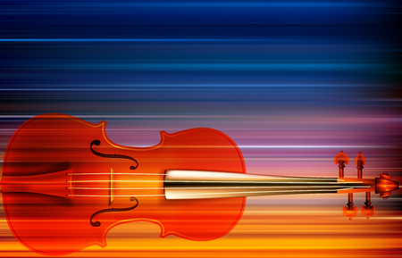 Abstract blur music background with violin illustration.