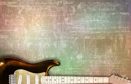abstract gray grunge vintage sound background electric guitar Stock Illustratie