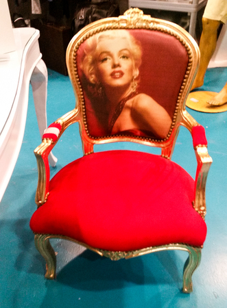 French style armchair with actress