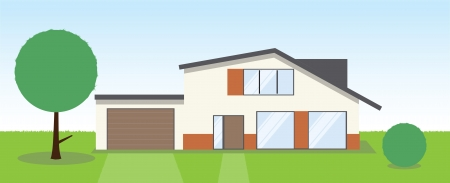 A front view of a wonderful country house Vector