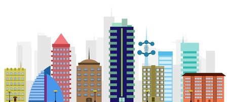 Vector illustration of a city panorama  City Skyline Stock Vector - 17907813