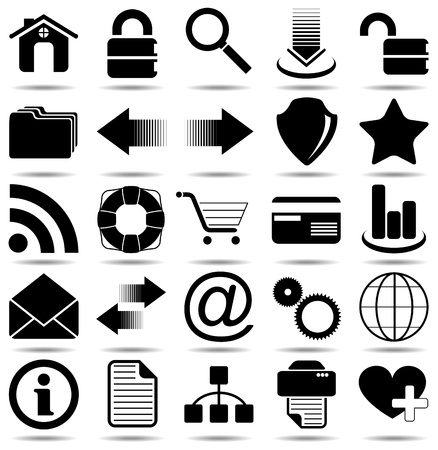 25 icons for your designs, print or Web project. Vector