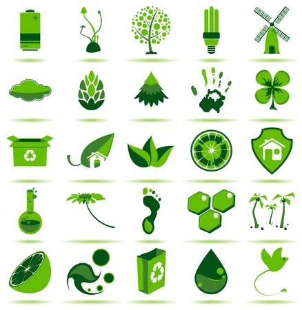 energies: 25 premium eco icons for your designs, print or Web project.