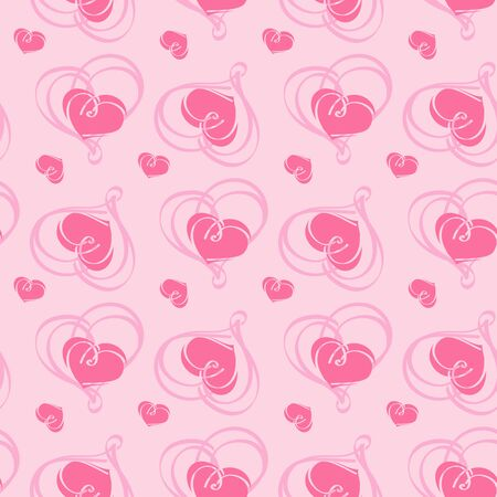 Valentines day Seamless texture. Cute Seamless pattern with hearts. Vector for your design. Perfect for fabrics print, background, wallpaper. EPS 8. Standard-Bild - 138793074