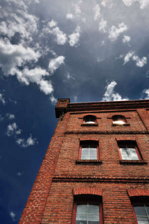 a old red brick house Stock Photo